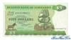 5 Долларов выпуска 1980 года, Зимбабве. Подробнее...