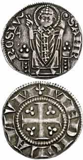 Амброзино, Италия, Милан, первая республика (Ambrosino Piccolo), 20 мм, 2.1 грамм.