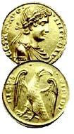Августаль, Фридрих II, 1231 г., золото (5,25 грамма, 932 проба, диаметр 20 мм). Сицилия, Бриндизи.